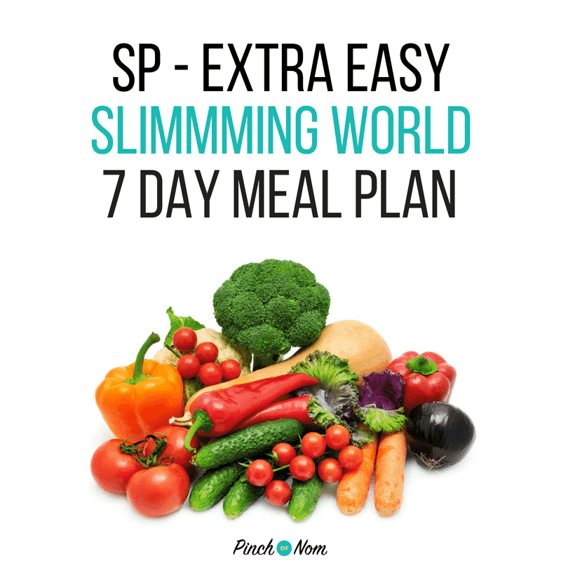 Extra easy sp 7 day slimming world meal plans pinch of nom Slimming world meal ideas