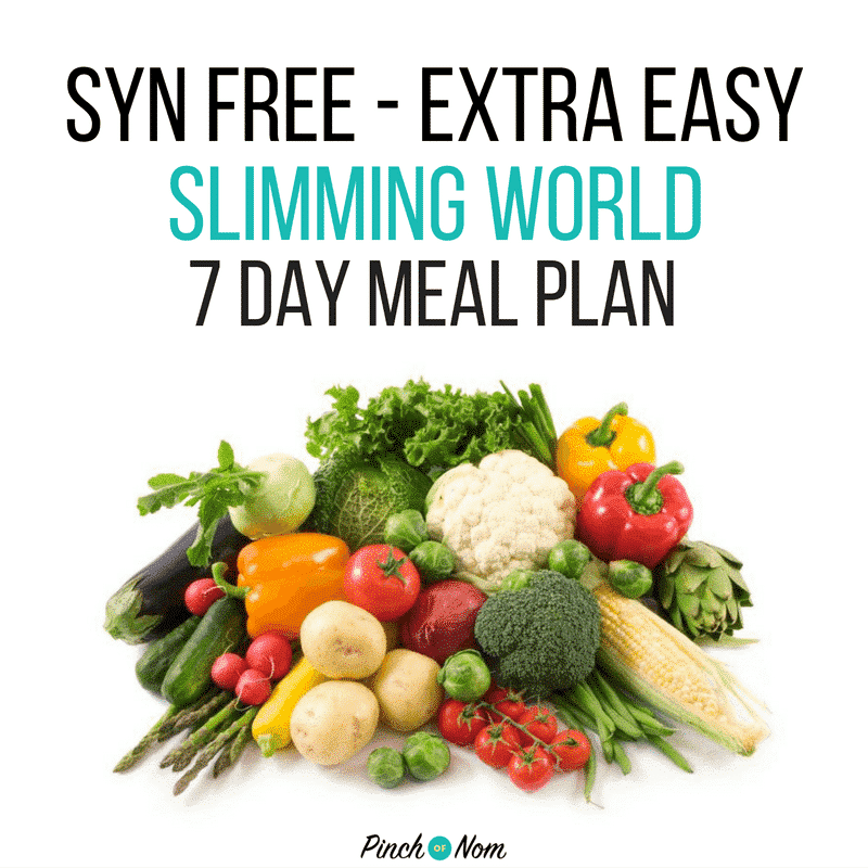 Syn free 7 day slimming world meal plans pinch of nom Simple slimming world meals
