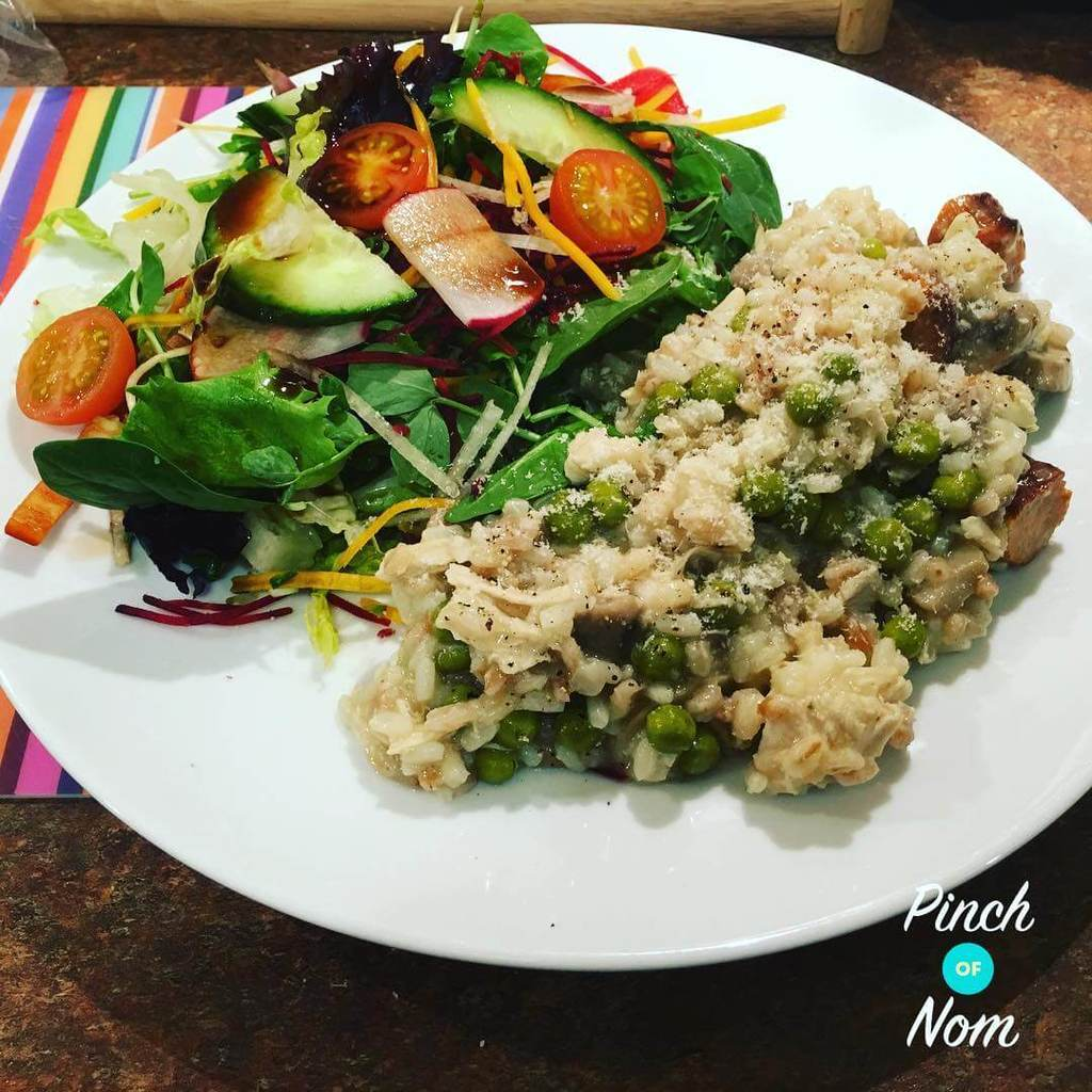 Chicken and Mushroom Risotto pinchofnom.com