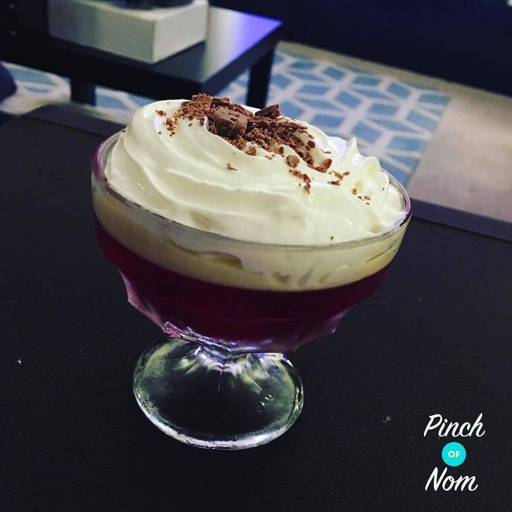 Trifle - Low Syn Raspberry Trifle   Slimming World
