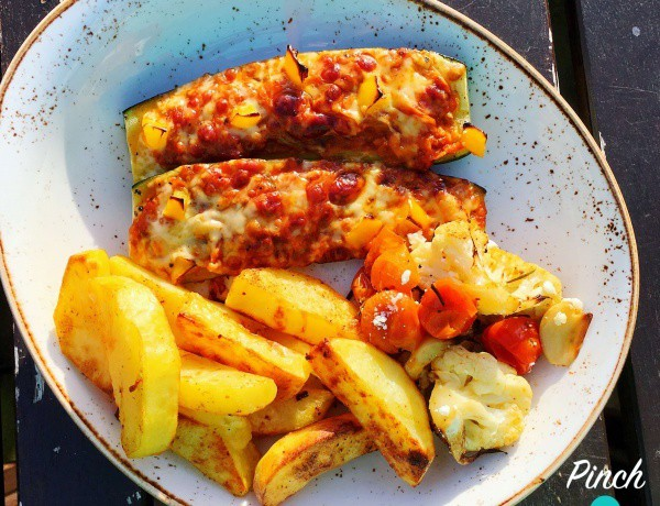 lasagne-courgette-boats-meal