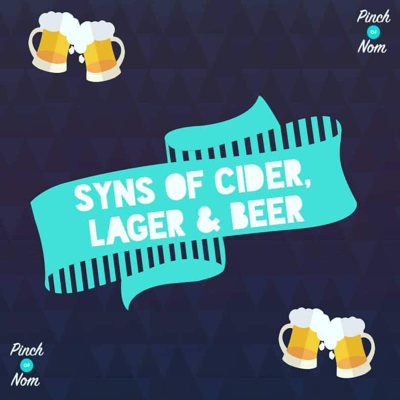 Guide To Cider, Lager & Beer Syns | Slimming World