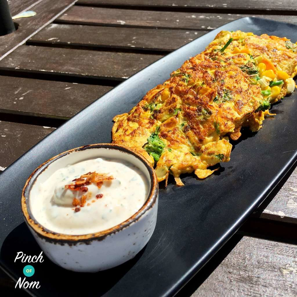 Broc and Sweetcorn fritter 1