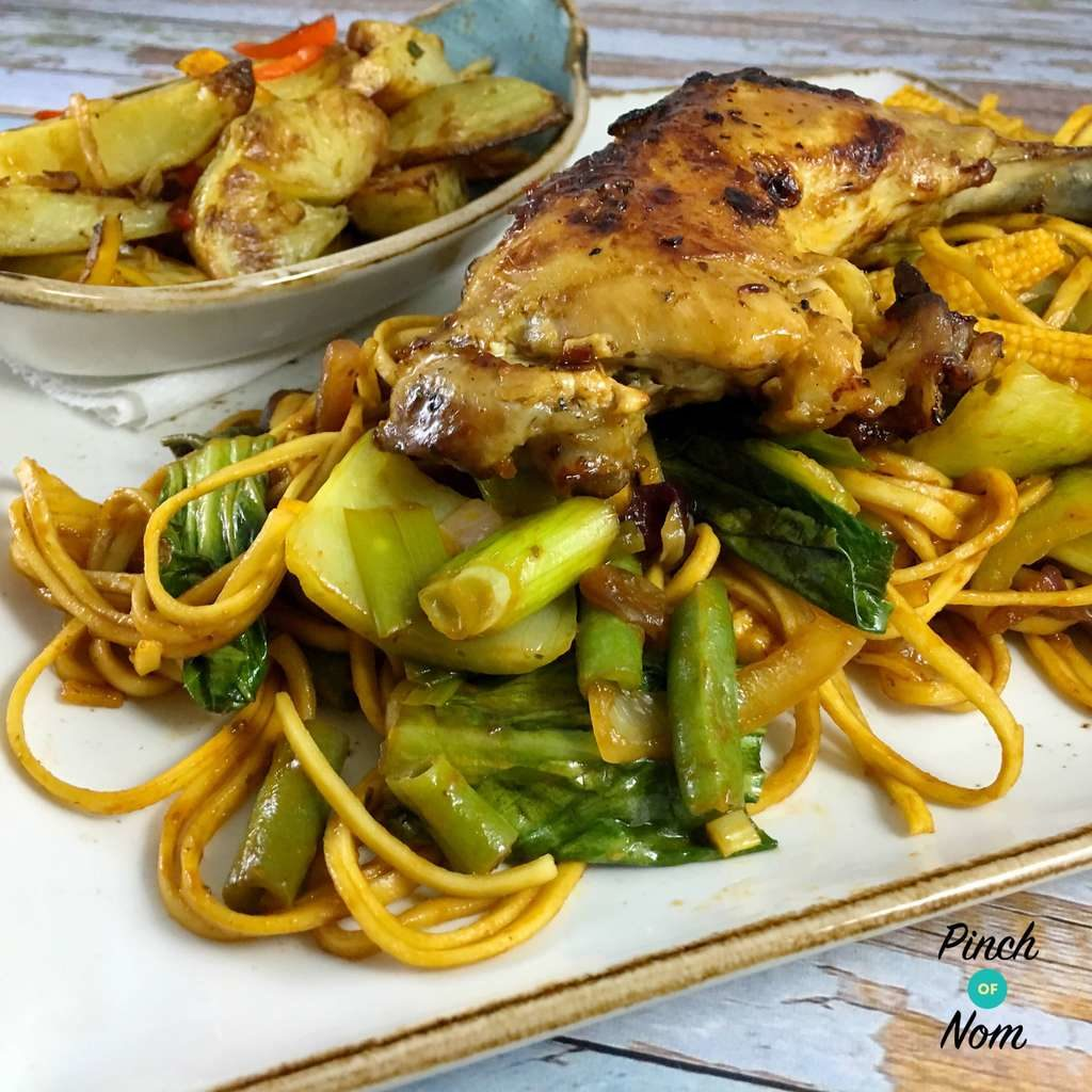 Syn Free Sticky Chilli Chicken with Noodles