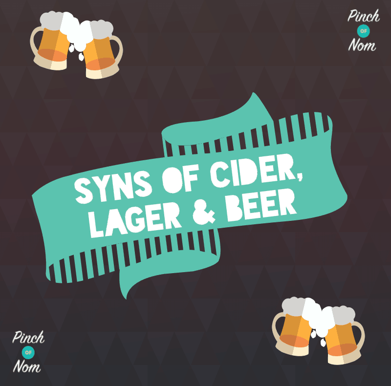 Guide To Cider Lager Beer Syns Slimming World Pinch