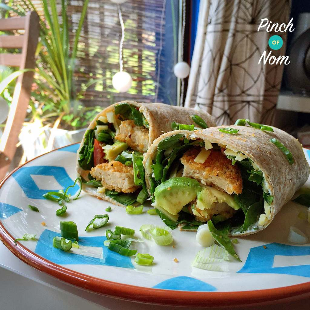 Quorn Chicken Burger Wrap | Slimming World - Pinch Of Nom