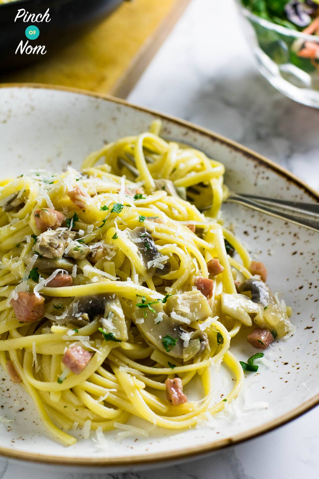 Spaghetti Carbonara | Slimming World & Weight Watchers Friendly
