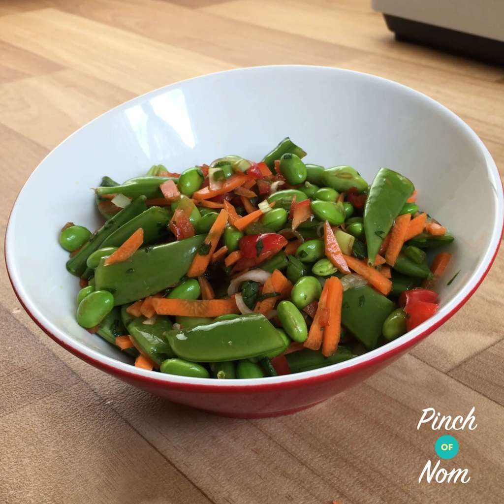 Edamame, Sugar Snap and Carrot Asian Salad
