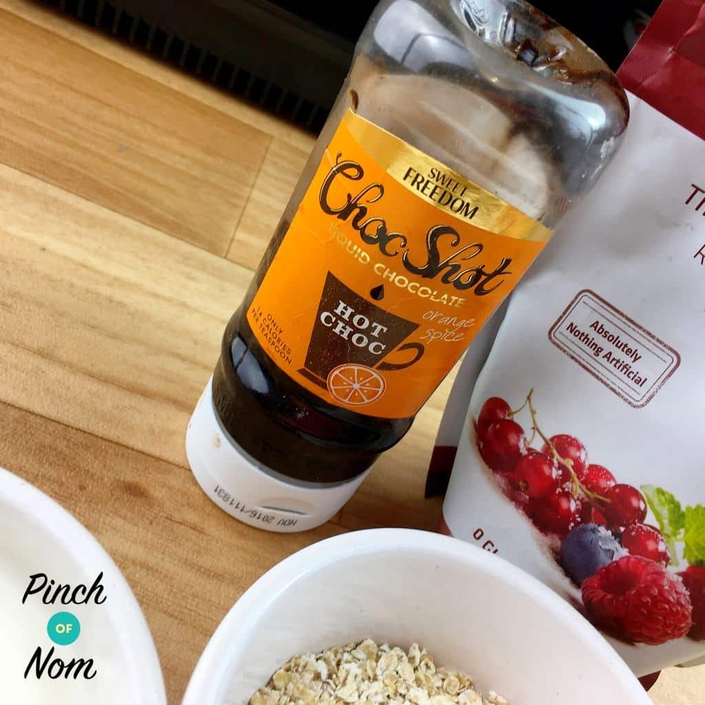 Orange choc shot Low Syn Chocolate and Orange Baked Oats | Slimming World