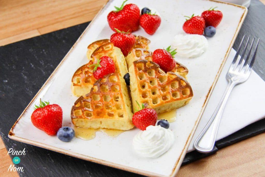 Strawberry and Vanilla Waffles | Slimming & Weight Watchers Friendly