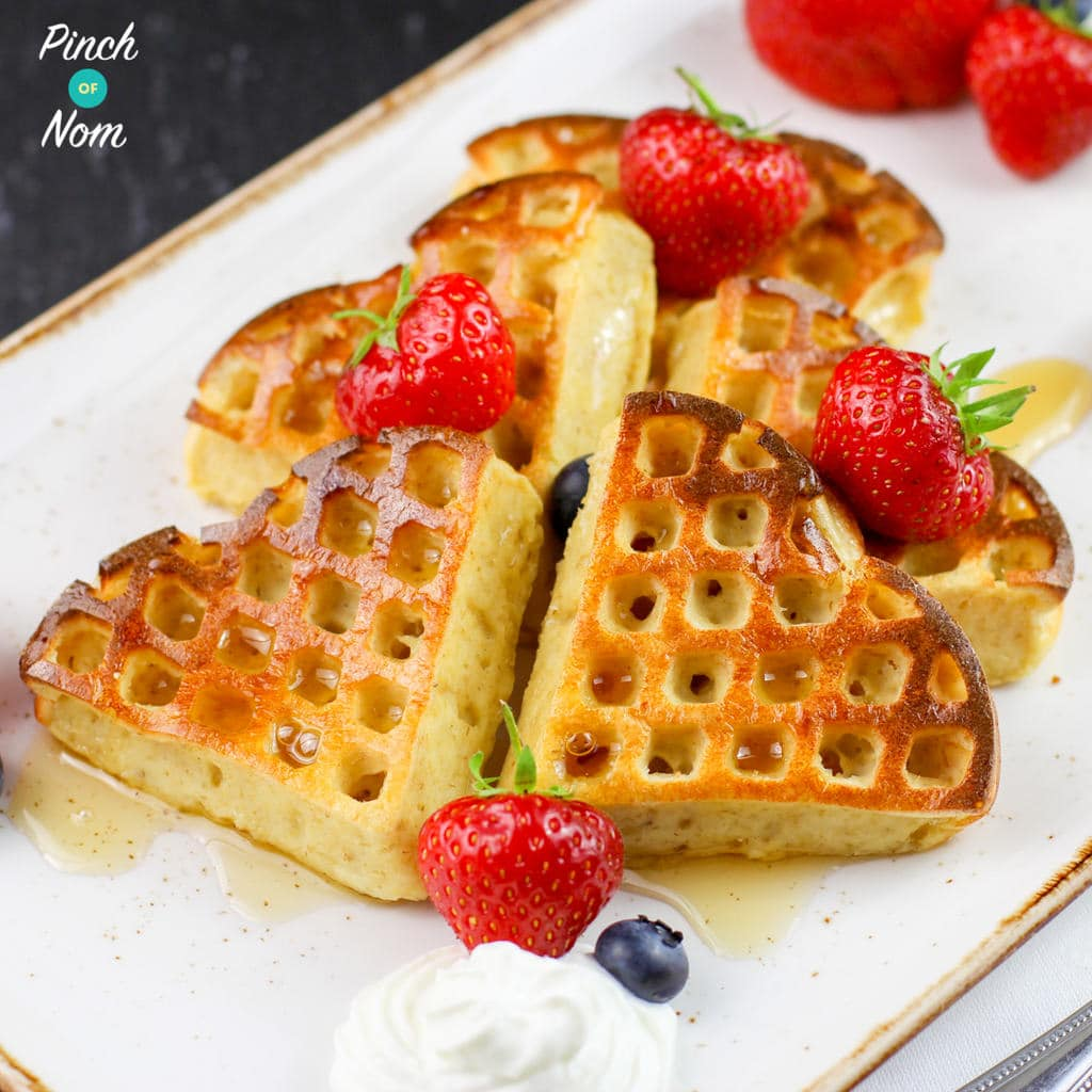 Syn Free Strawberry & Vanilla Waffles