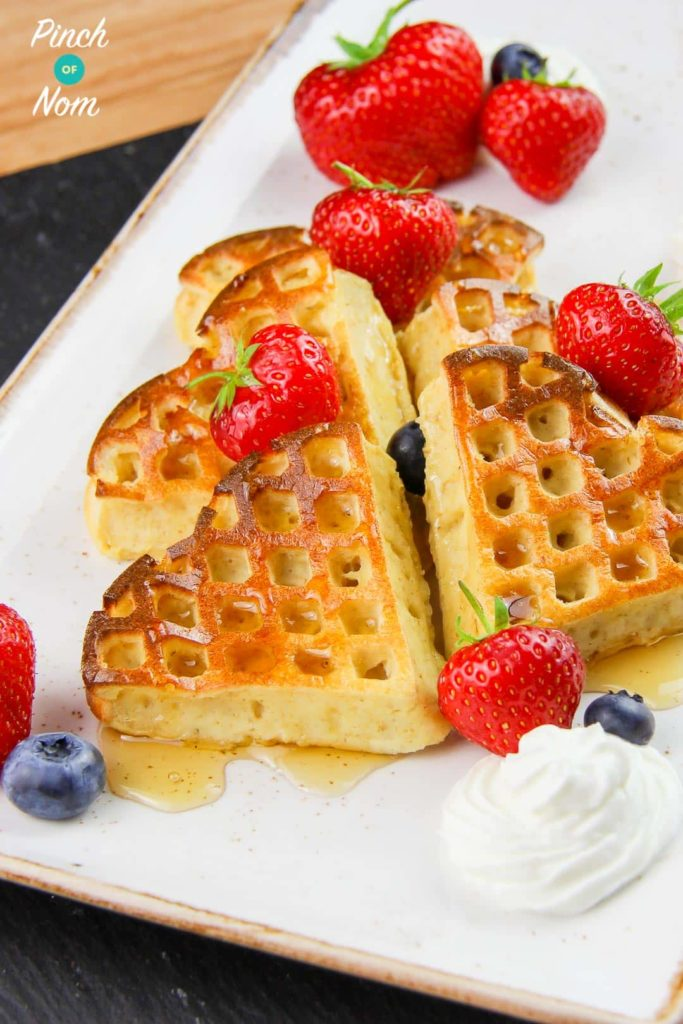 Our Top 6 Slimming World Breakfast Ideas - Syn Free Strawberry & Vanilla Waffles