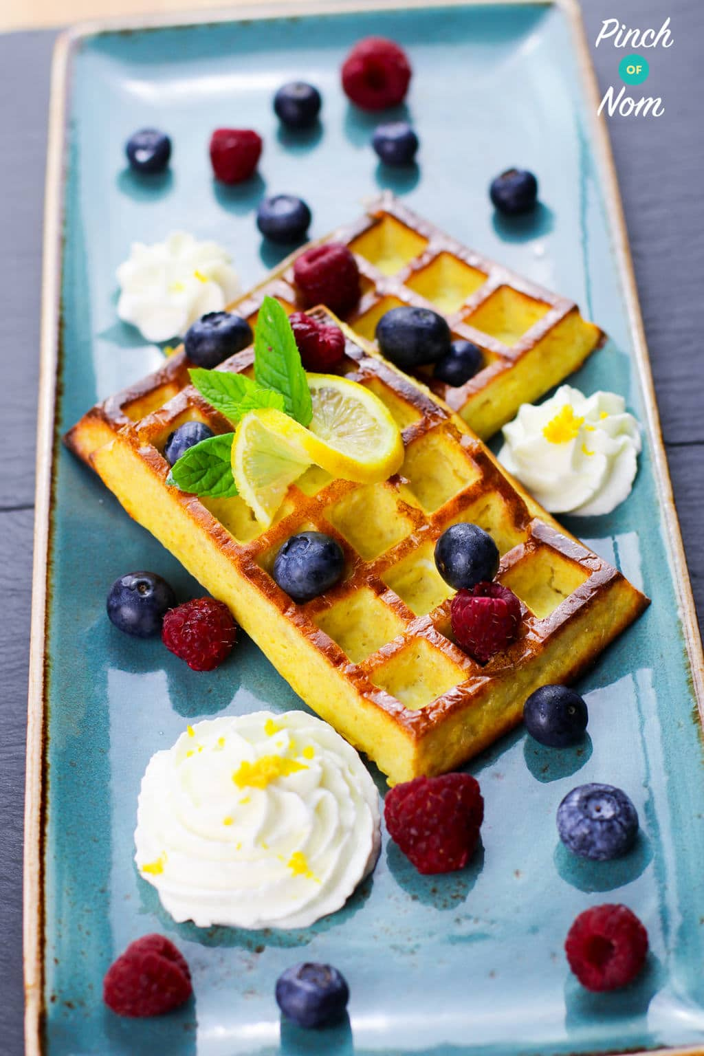 Syn Free Lemon & Blueberry Waffles | Slimming World