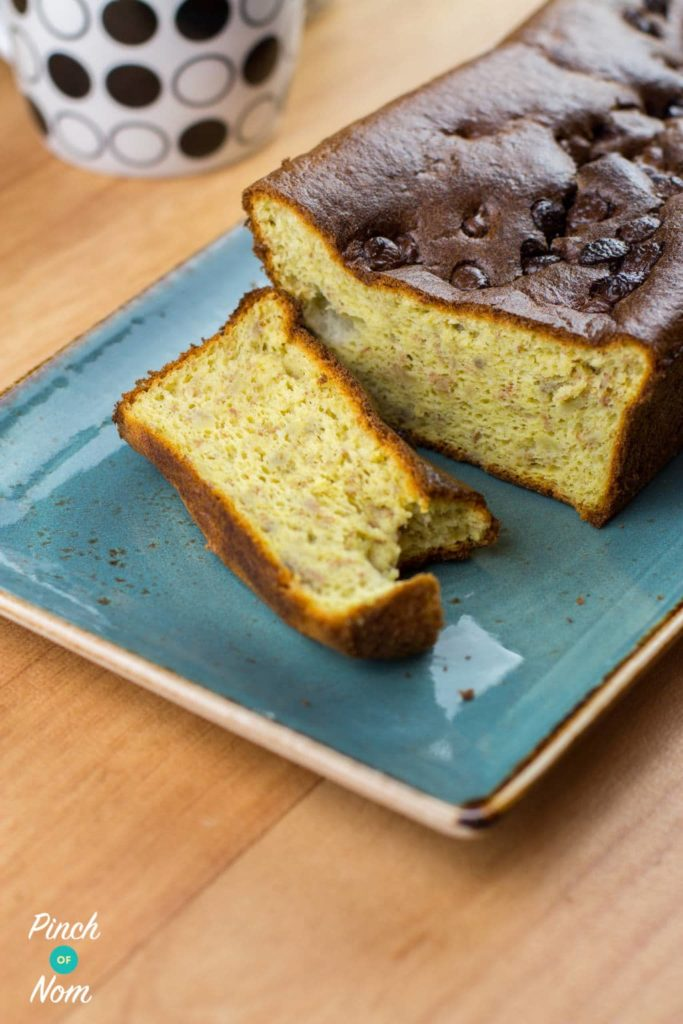 Banana Bread with Chocolate Chips   slimming & weight watchers friendly
