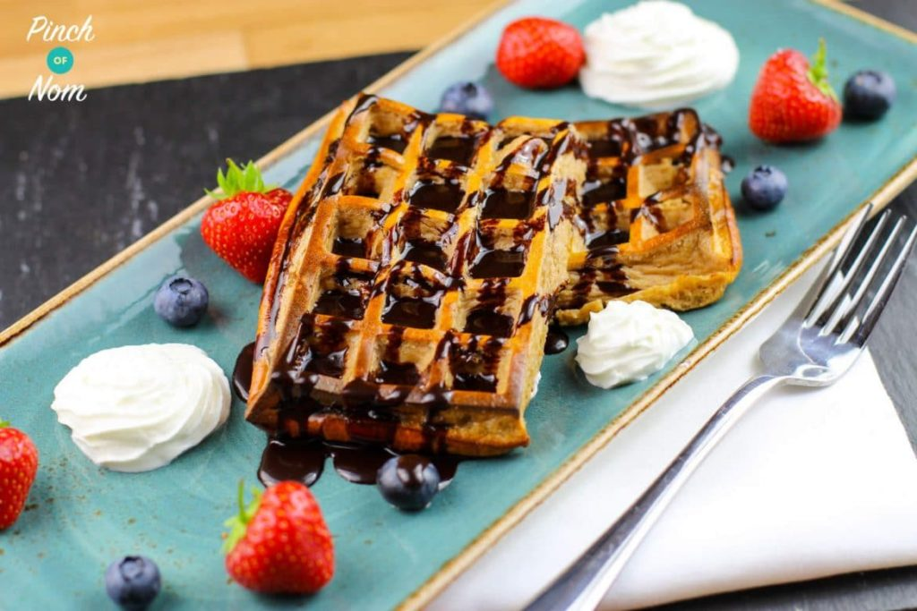 Chocolate Coconut Waffles | Slimming & Weight Watchers Friendly