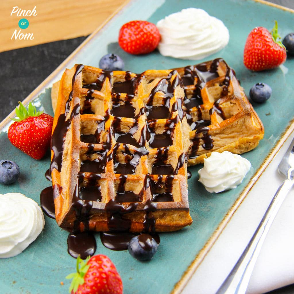Low Syn Chocolate & Coconut Waffles