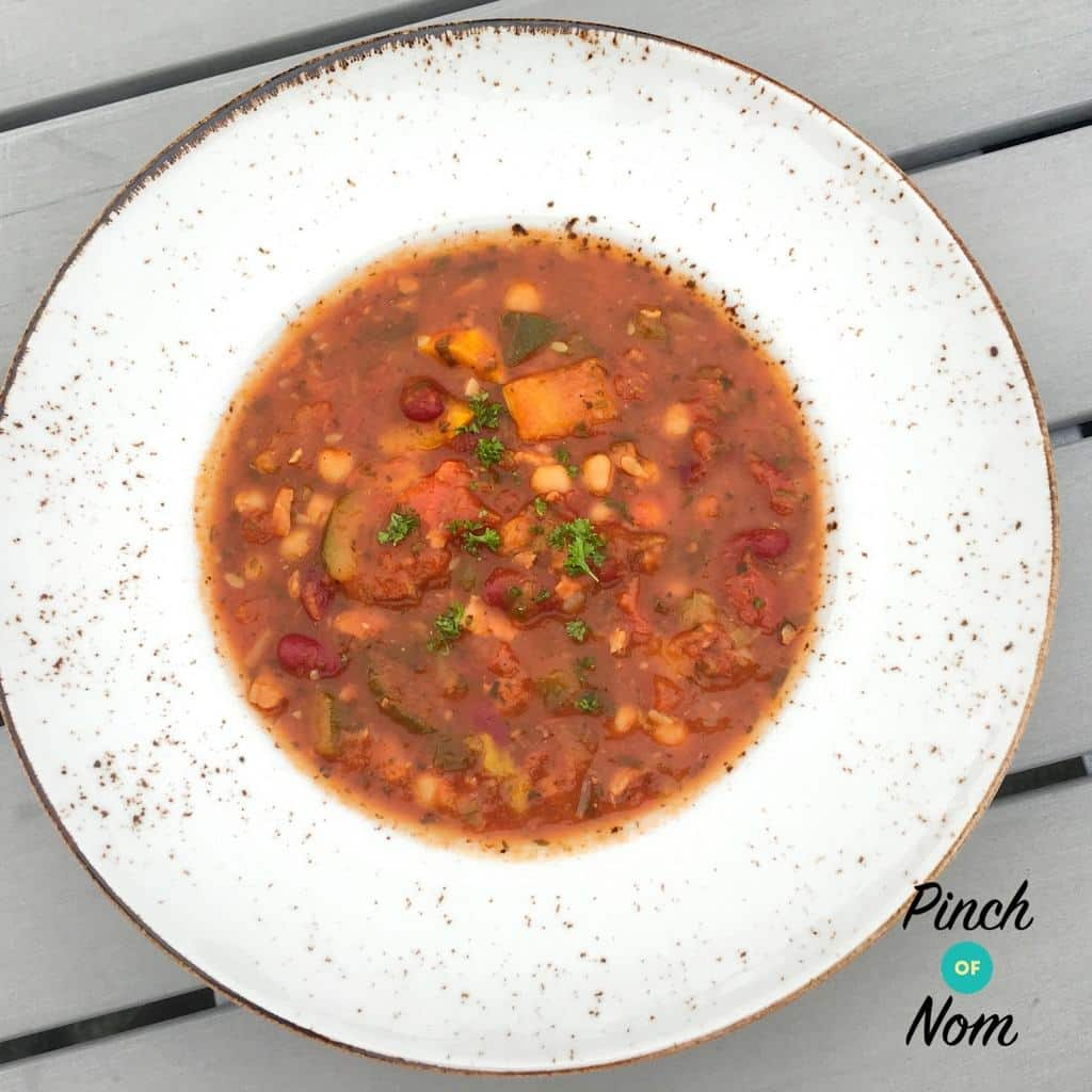 Cajun Red Bean, Chick Pea and Tomato Soup | Slimming World & Weight Watchers Friendly