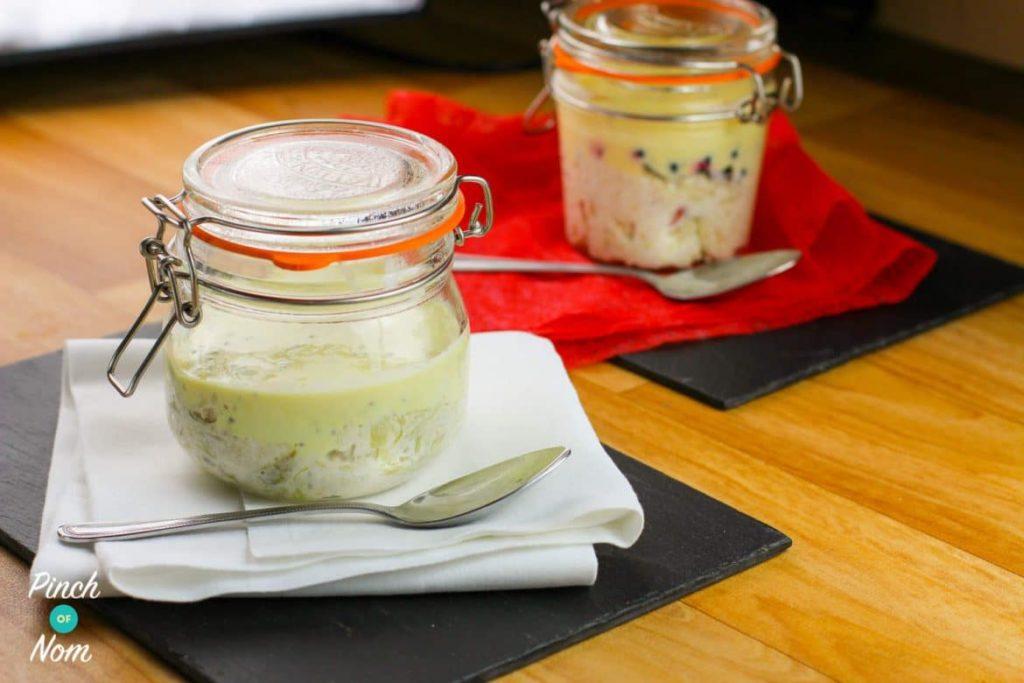Rhubarb and Custard Overnight Oats | Slimming & Weight Watchers Friendly