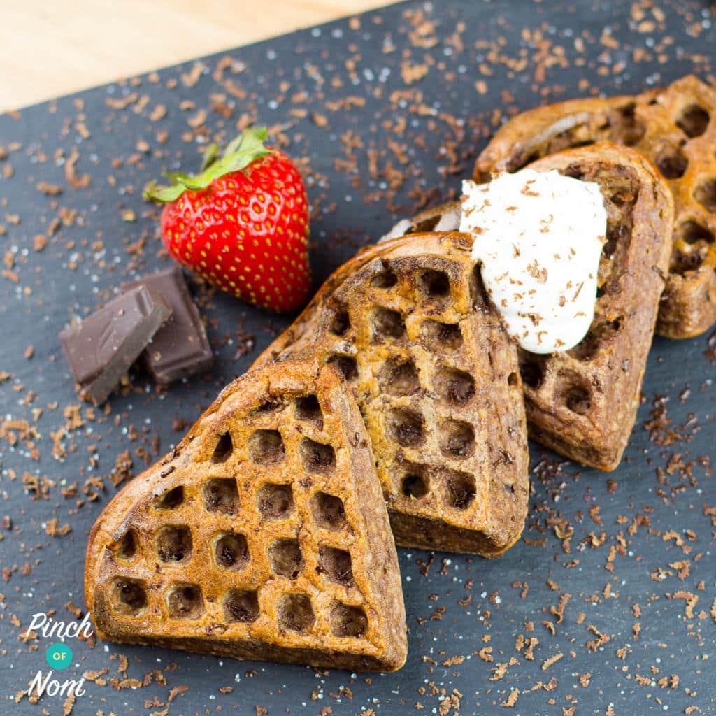 Chocolate Waffles pinchofnom.com