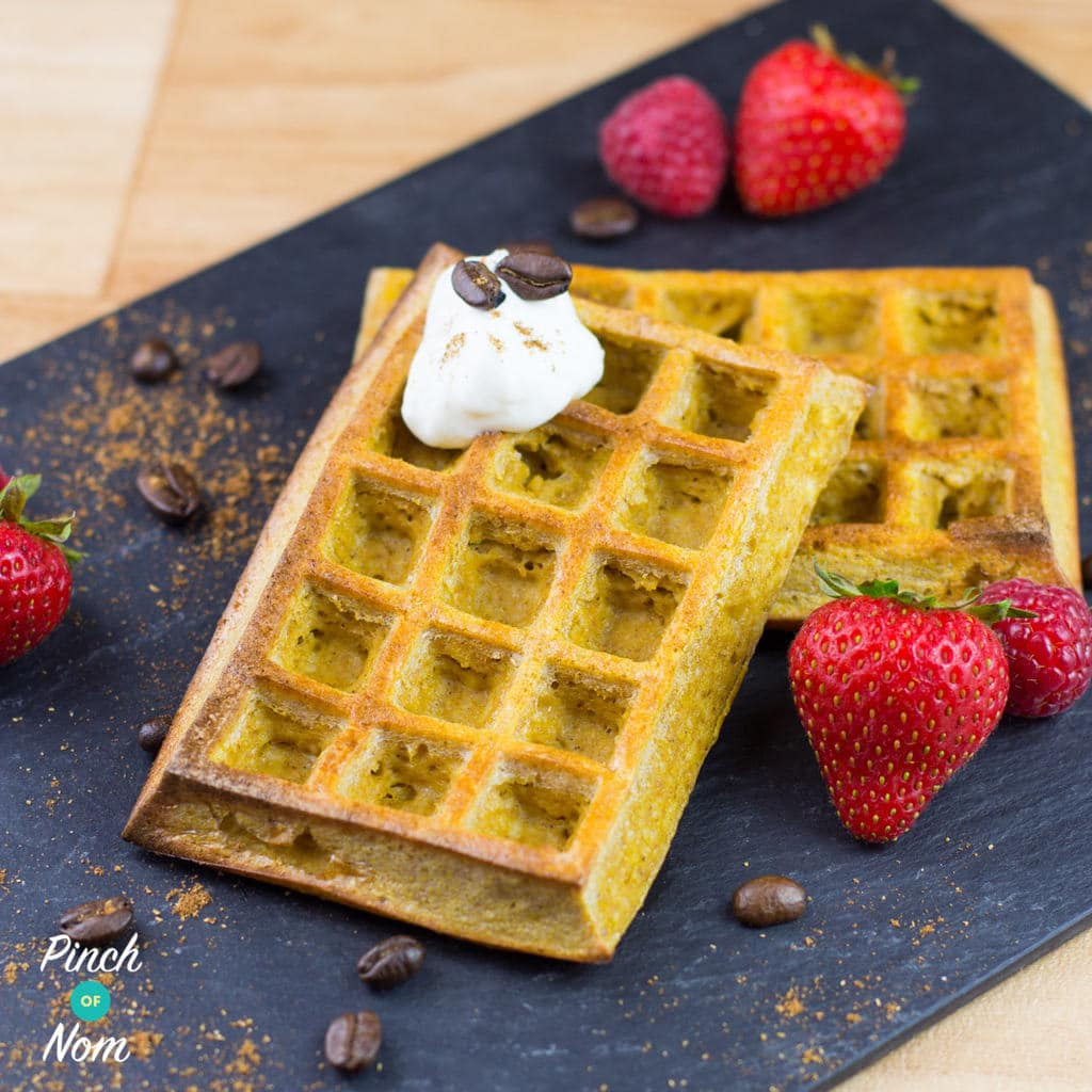 Pumpkin Spiced Latte Waffles | Slimming & Weight Watchers Friendly