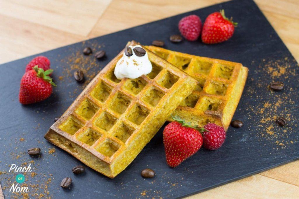 Pumpkin Spiced Latte Waffles   Slimming & Weight Watchers Friendly
