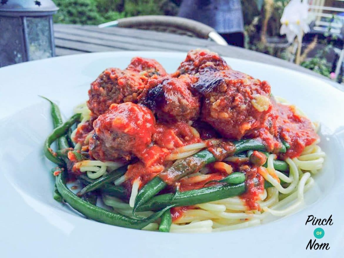 Baked Spicy Meatballs | Slimming World & Weight Watchers Friendly