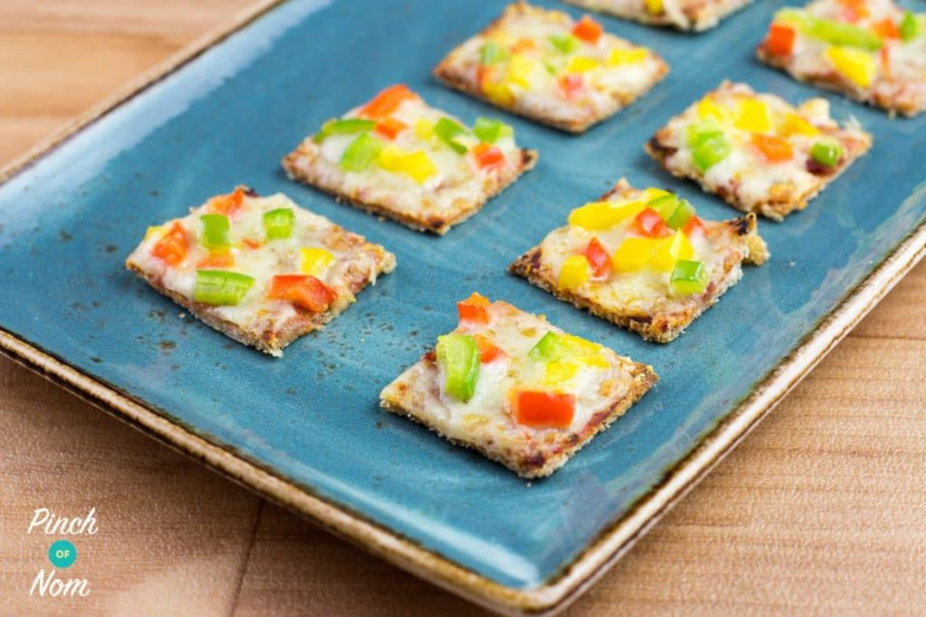 Mini Pizza Bites | Slimming & Weight Watchers Friendly