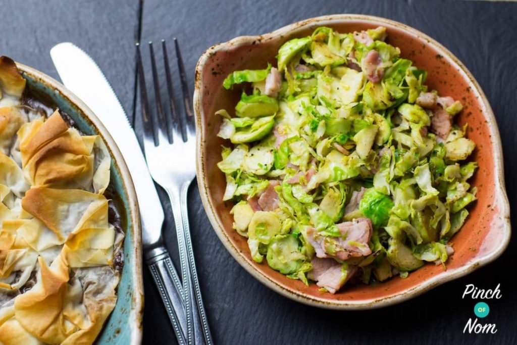 Brussels Sprouts with Bacon | Slimming & Weight Watchers Friendly