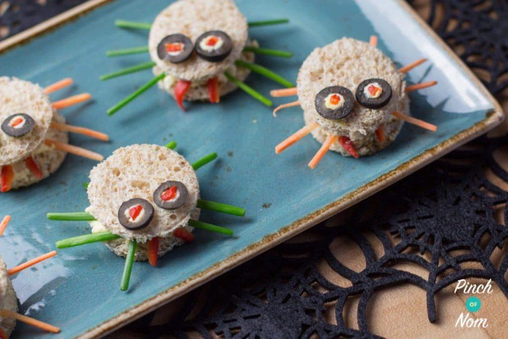 Scary Spider Sandwiches   Slimming & Weight Watchers Friendly