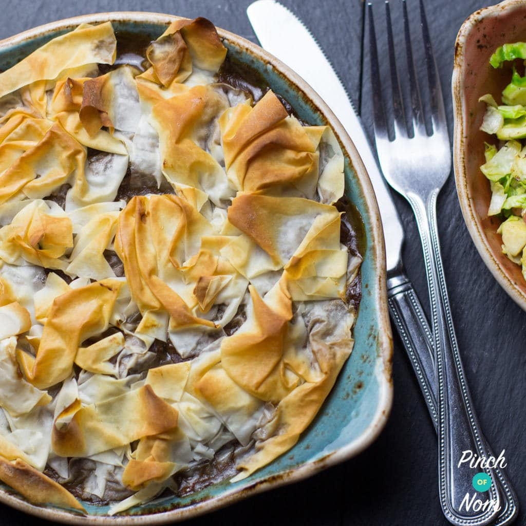 2 Syn Steak and Mushroom Pie