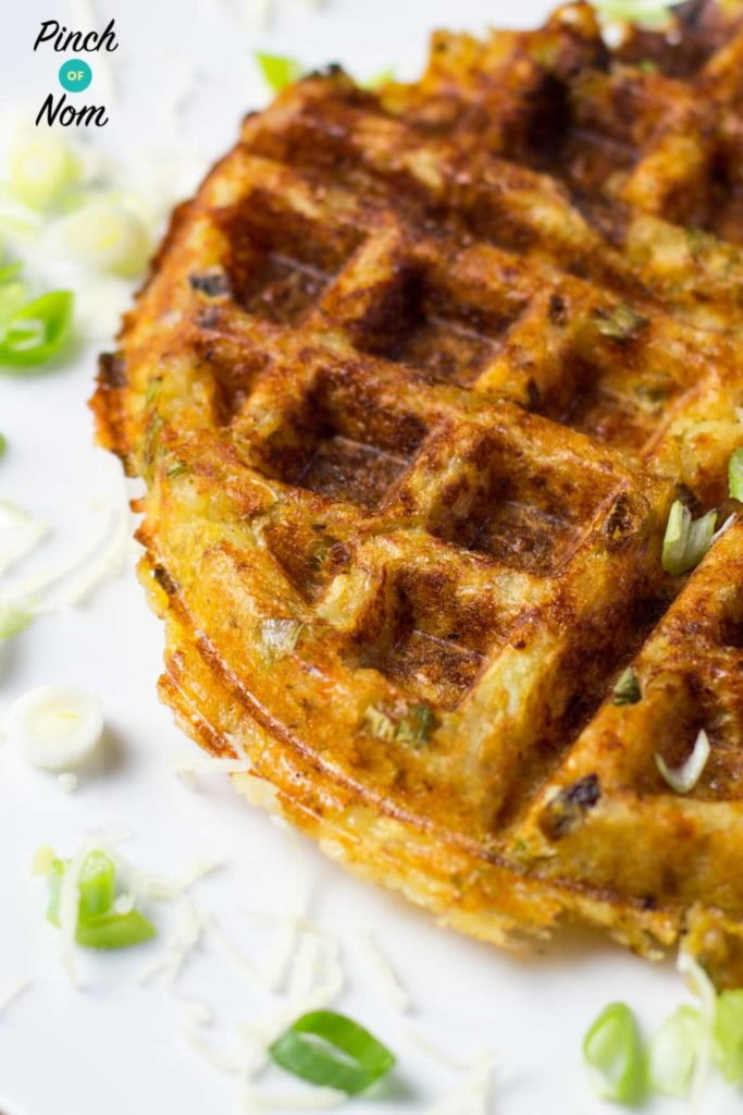 Potato, Cheese and Onion Waffles | Slimming & Weight Watchers Friendly