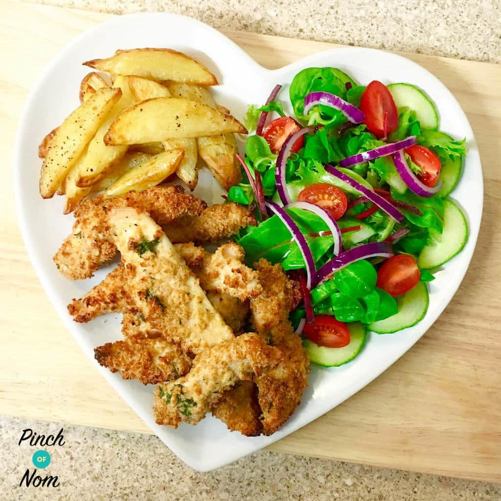 Syn Free Garlic Lemon And Parsley Chicken Goujons