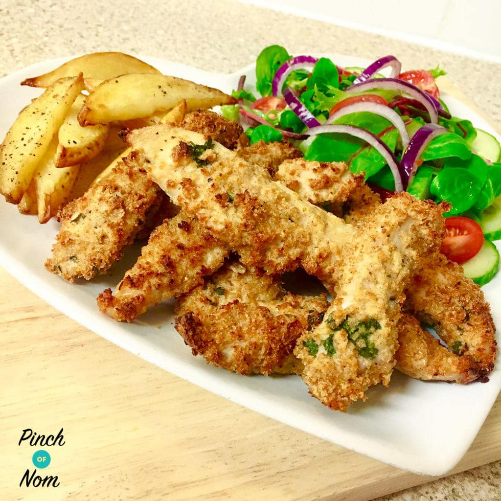 Garlic, Lemon and parsley Chicken Goujons | Slimming World