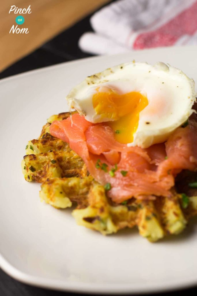 Onion and Chive Potato Waffles | Slimming & Weight Watchers Friendly