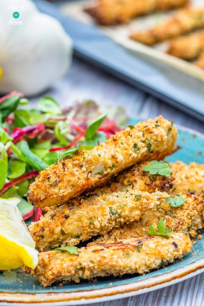 Syn Free Garlic, Lemon and Parsley Chicken Goujons | Slimming World-9
