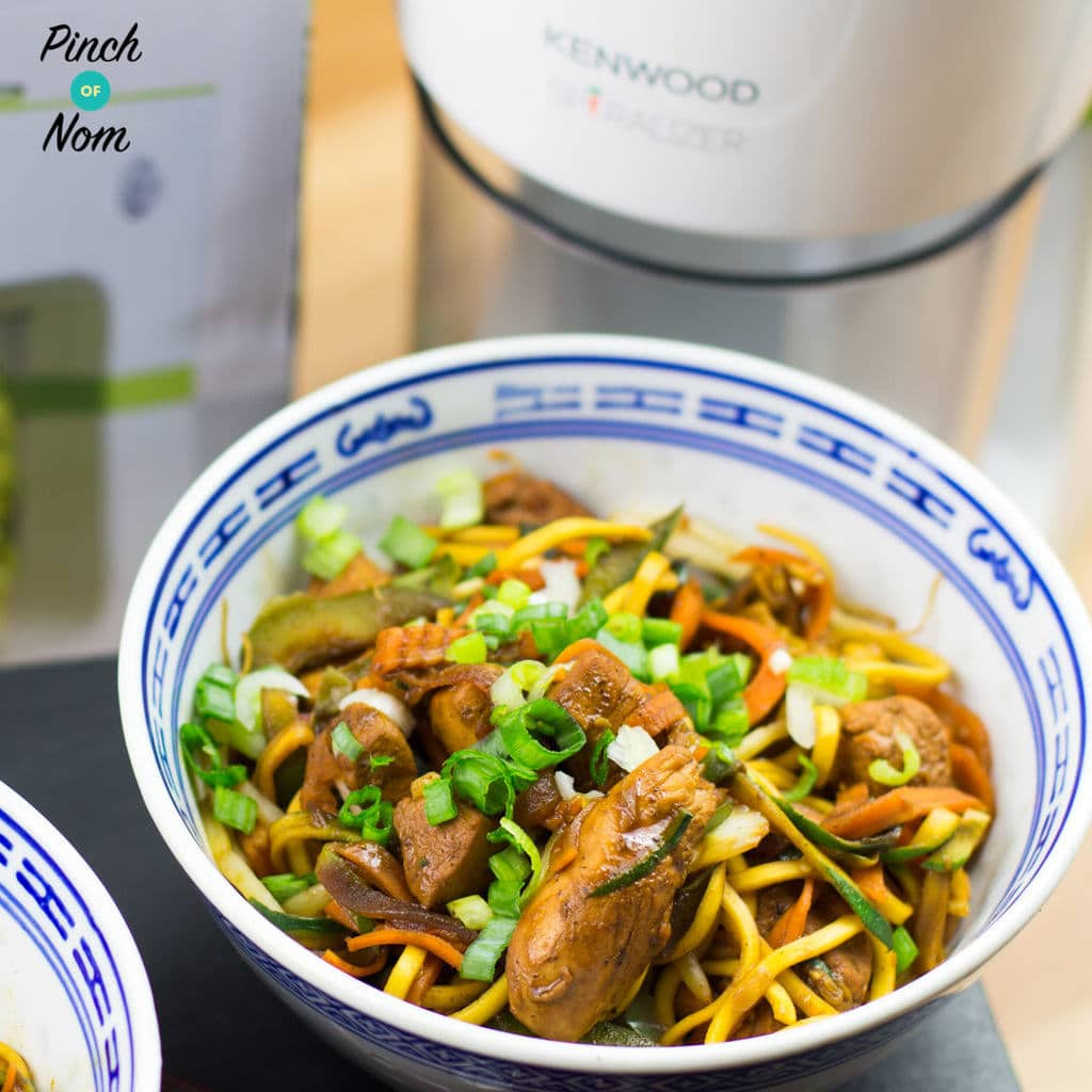 Syn Free Spiralized Chow Mein Slimming World Pinch Of Nom