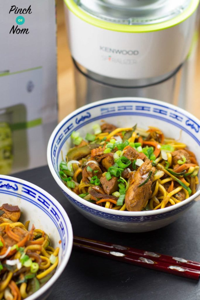 Spiralized Vegetable and Chicken Chow Mein | Slimming & Weight Watchers Friendly