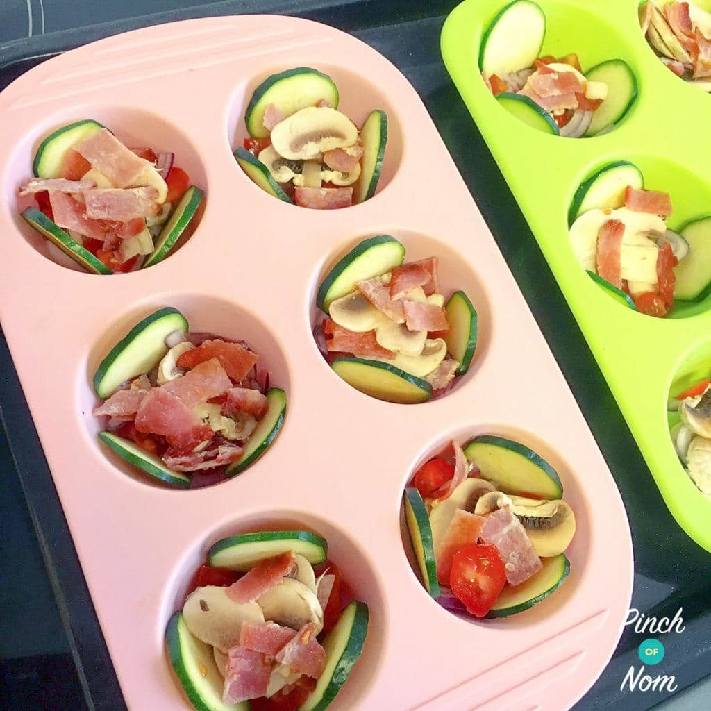 Syn Free Delicately Spiced Courgette and Bacon Breakfast Muffins