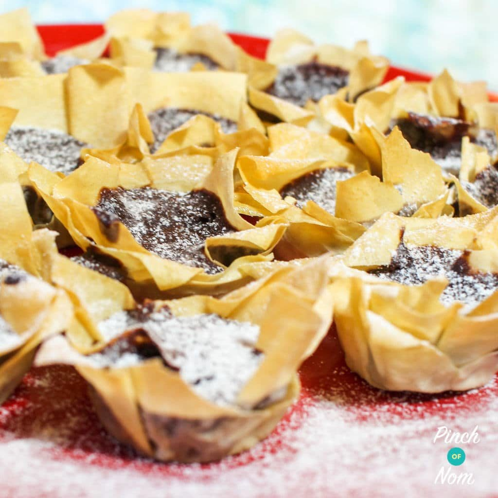 Low Syn Chestnut and Chocolate Tarts | Slimming World