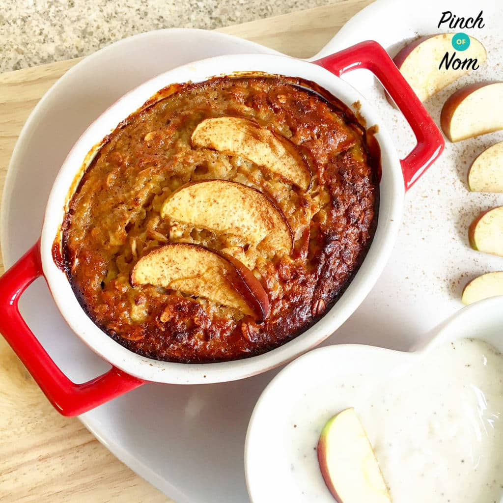 Low Syn Pear and Apple Baked Oats | Slimming World - Pinch ...