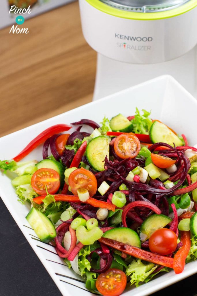 Syn Free Spiralized Apple and Beetroot Salad