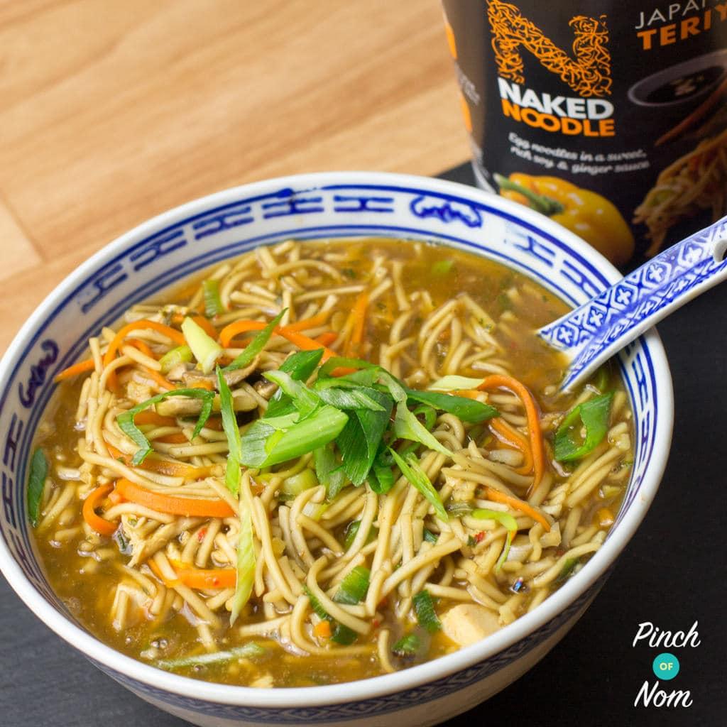Naked girls food noodle