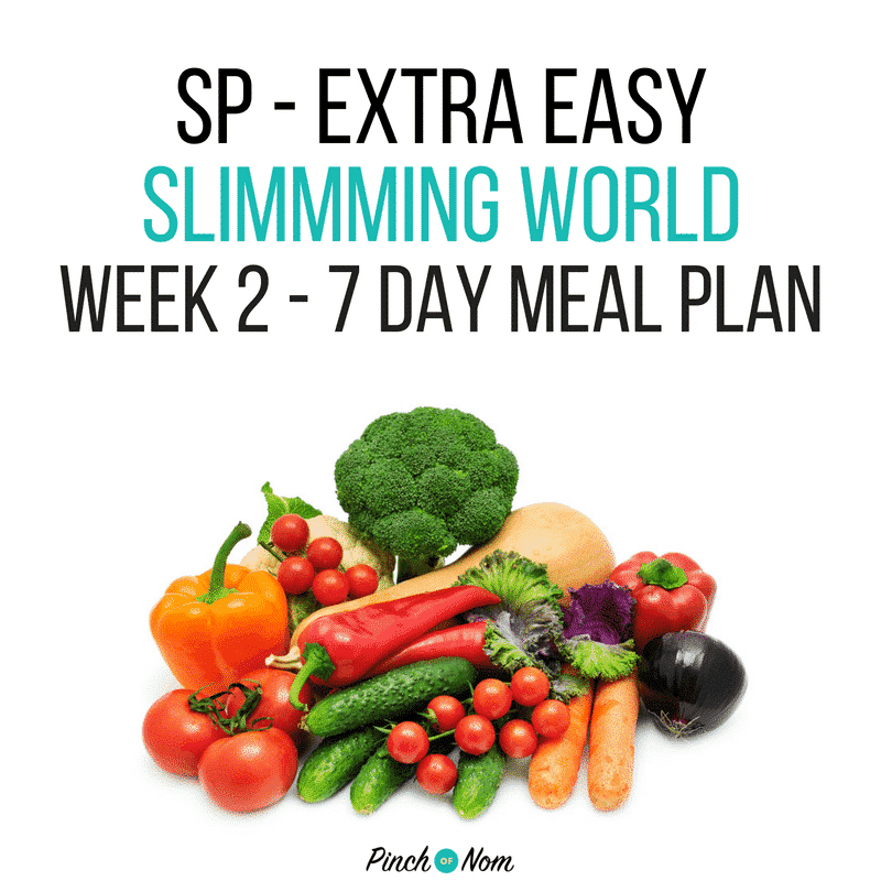slimming world 7 day meal plan SP extra easy week 2