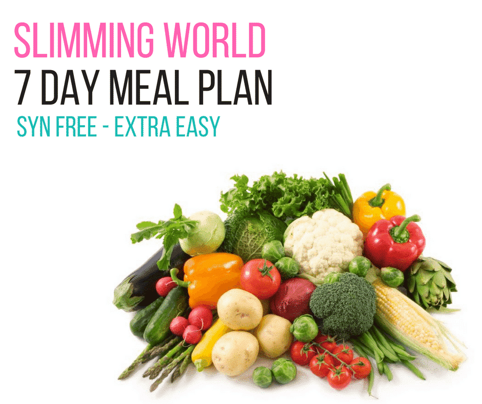 Slimming World 7 Day Meal Plan Syn Free Extra Easy