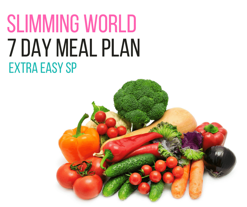 7 day slimming world meal plan sp extra easy pinch of nom Simple slimming world meals