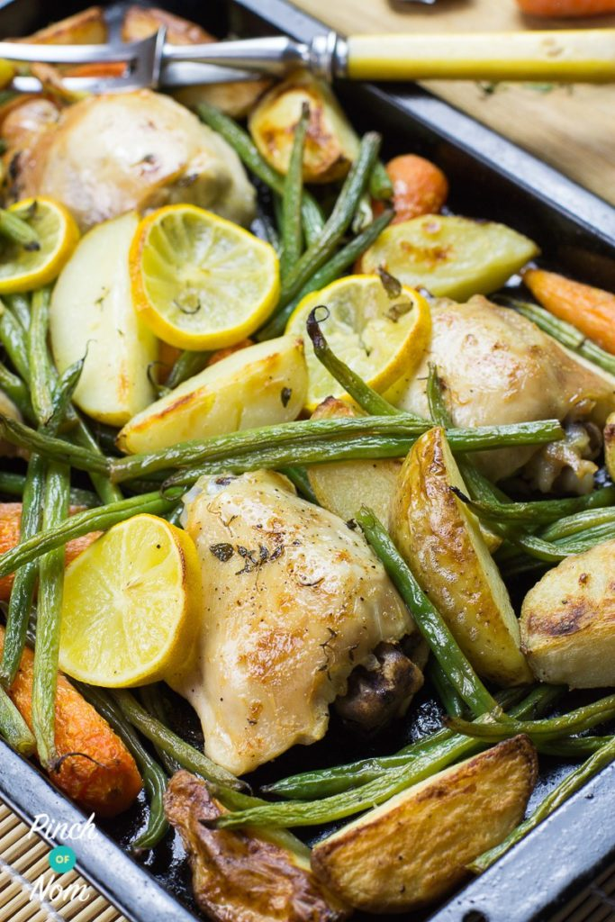 Lemon and Garlic Chicken Tray Bake | Slimming & Weight Watchers Friendly