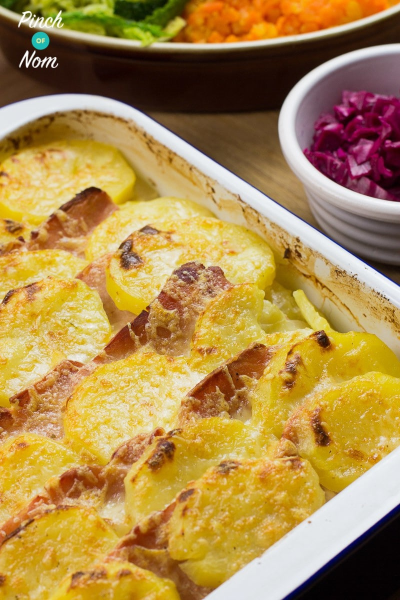 Syn Free Bacon, Onion and Potato Bake