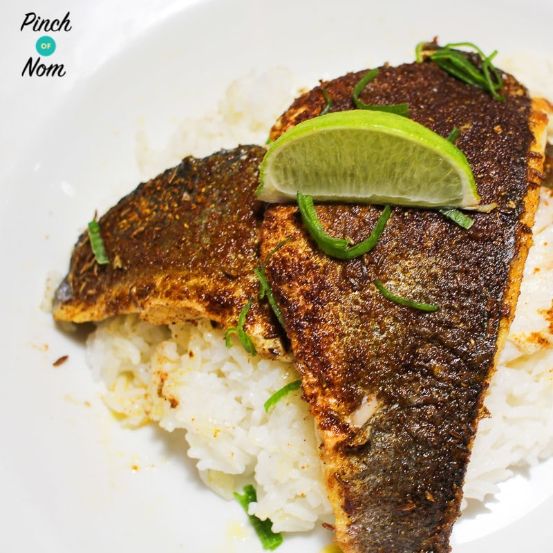 Syn Free Curried Seabass