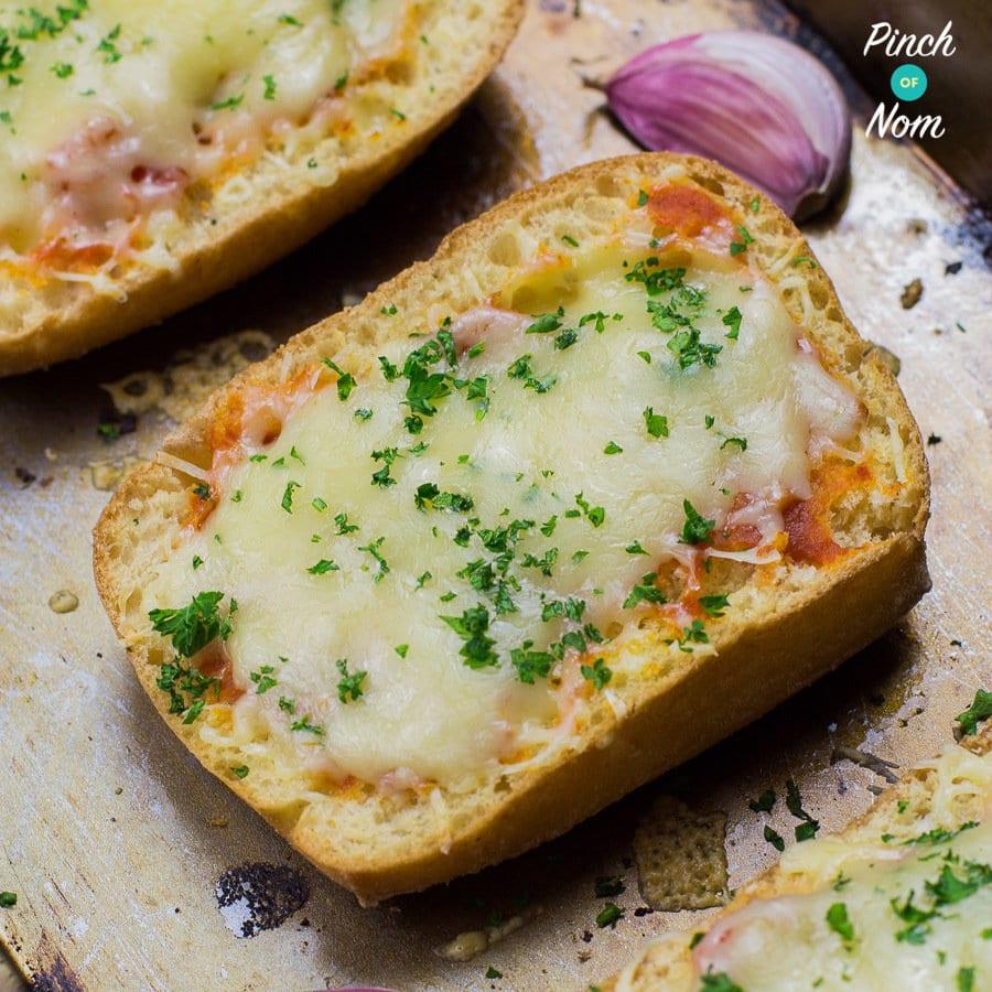 Syn Free Cheesy Garlic Bread | Slimming World - Pinch Of Nom