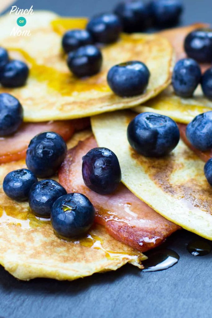 Bacon and Maple and Blueberry Pancakes